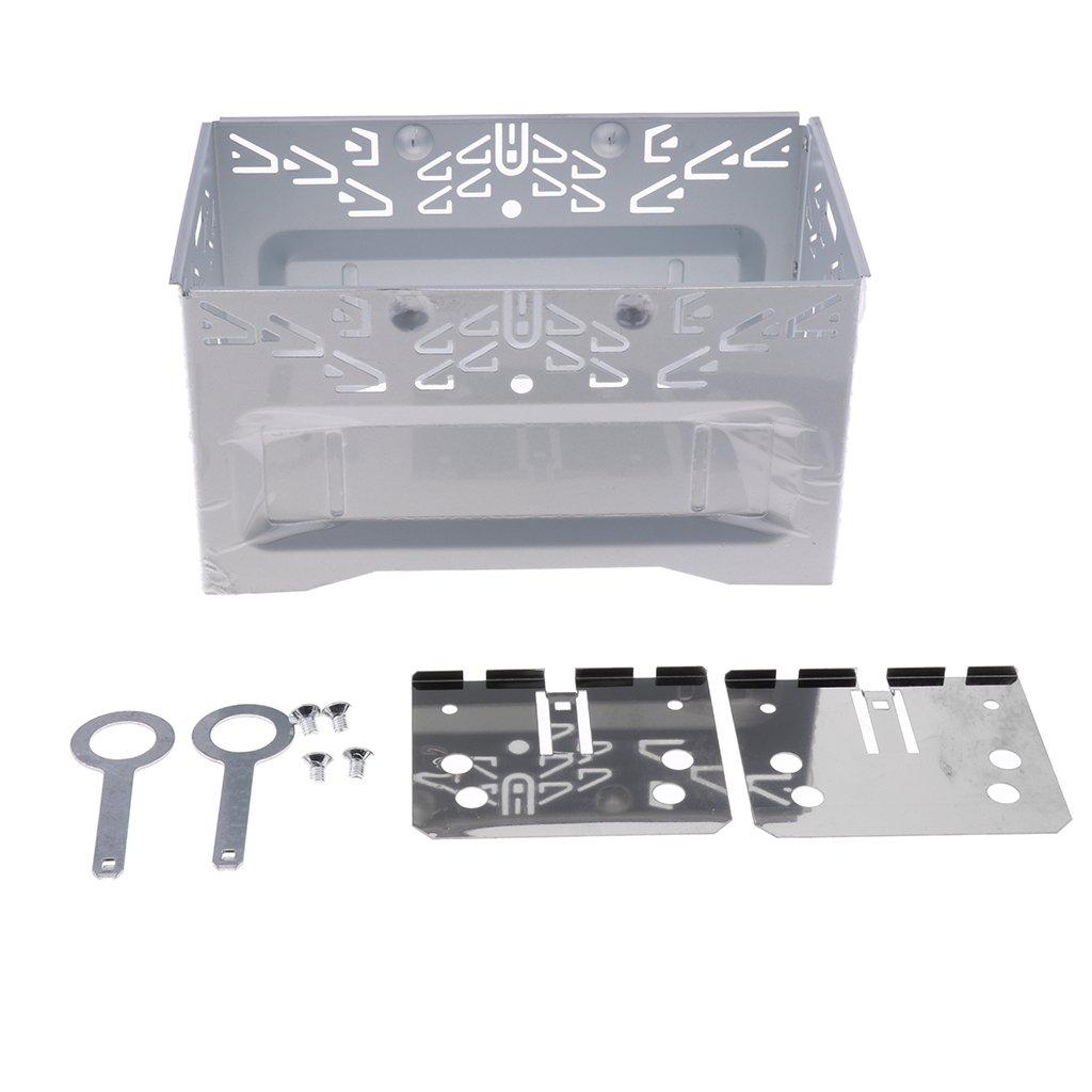 Sharplace Gabbia Installazione Autoradio ISO 2 DIN Metallo Universale Auto