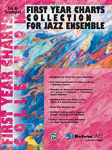 First Year Charts Collection for Jazz Ensemble: 1st B-Flat Trumpet por Alfred Music
