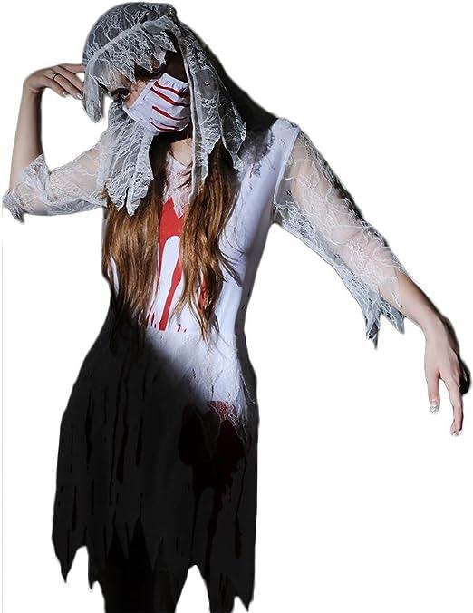 SASA Disfraz de Halloween Diablo Novia Mujer Disfraces Zombie ...