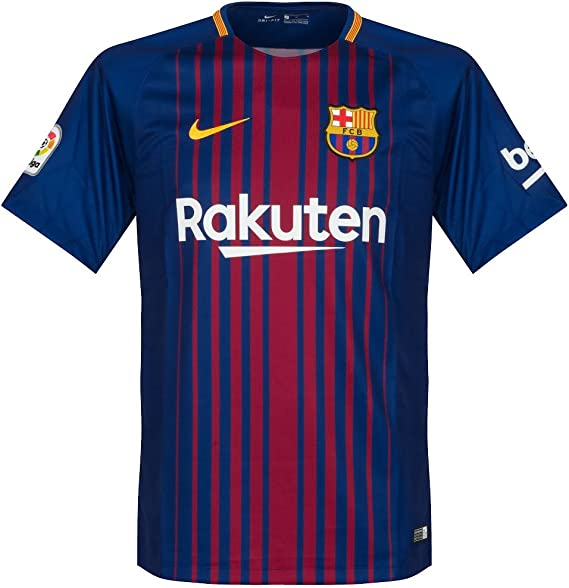 amazon com barcelona home messi jersey 2017 2018 official printing s clothing barcelona home messi jersey 2017 2018 official printing s