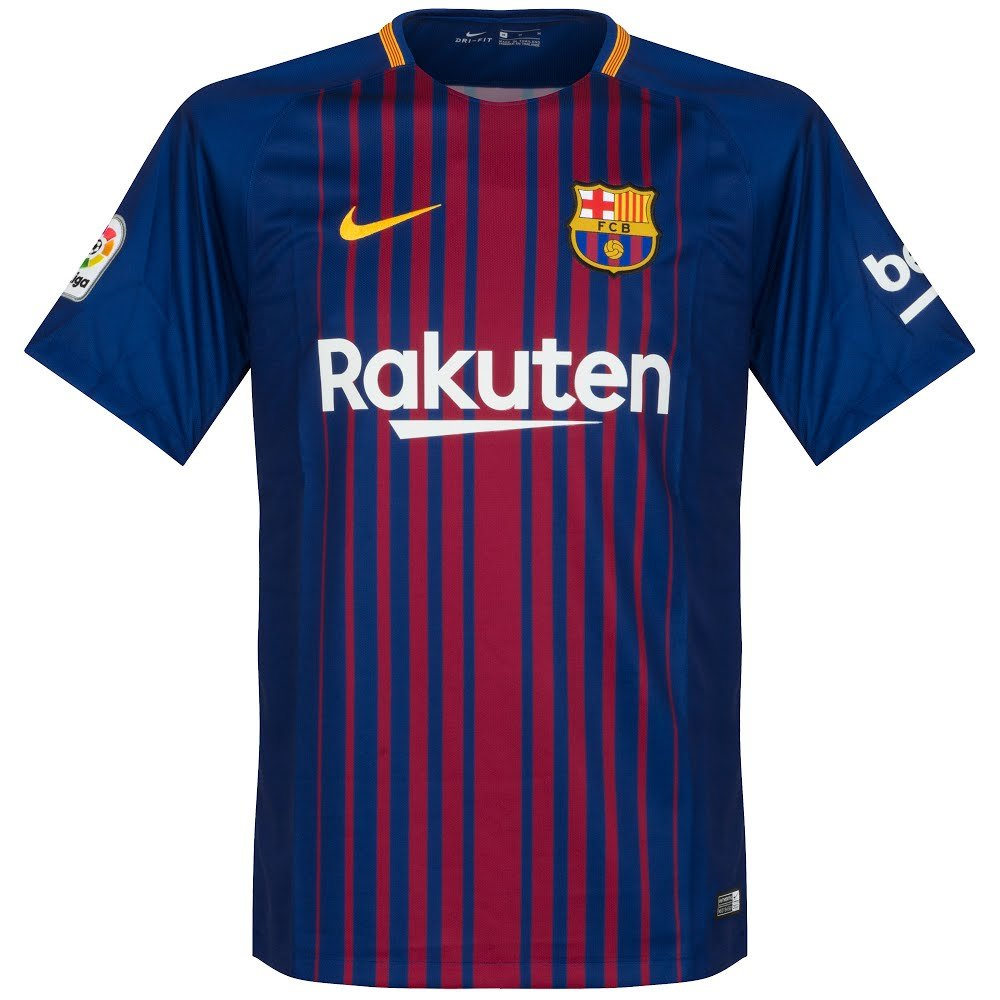a5a5b81b4 Amazon.com   Nike Barcelona Home Messi Jersey 2017 2018 (Official Printing)    Clothing