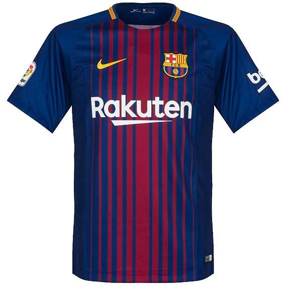 Amazon.com : Nike Barcelona Home Messi Jersey 2017/2018 ...