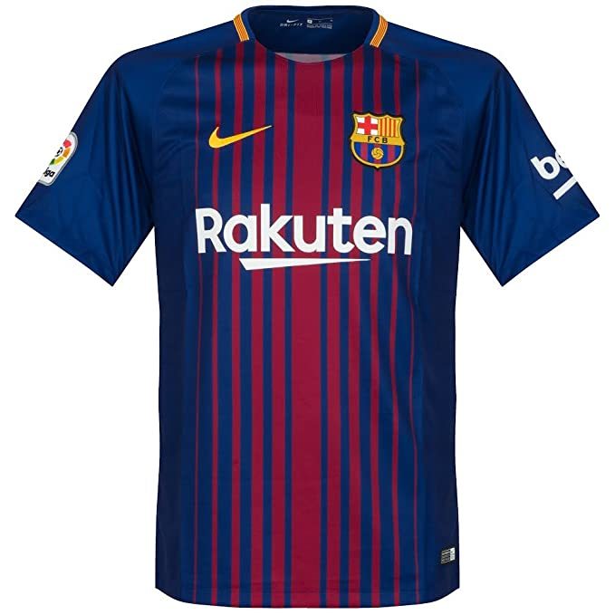 83d5078d2 Amazon.com   Nike Barcelona Home Messi Jersey 2017 2018 (Official Printing)    Clothing