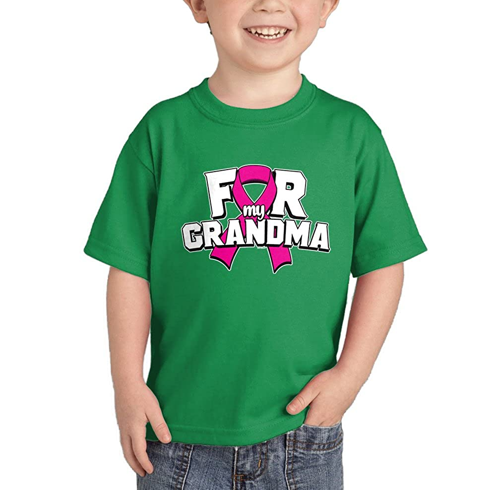 HAASE UNLIMITED Pink Ribbon for My Grandma - Breast Cancer T-Shirt CHILD_00017_CHILDTEE