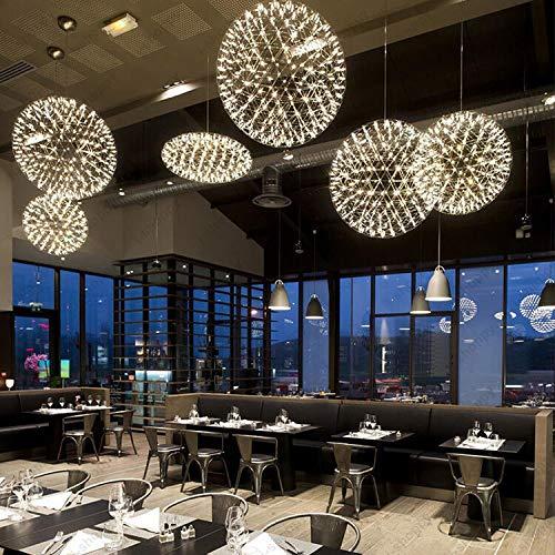 FidgetGear 6W/10W/15W LED Firework Pendant Light Ball-Shape Ceiling Lamp Fixture Canteen 15W(45cm/18) by FidgetGear (Image #2)