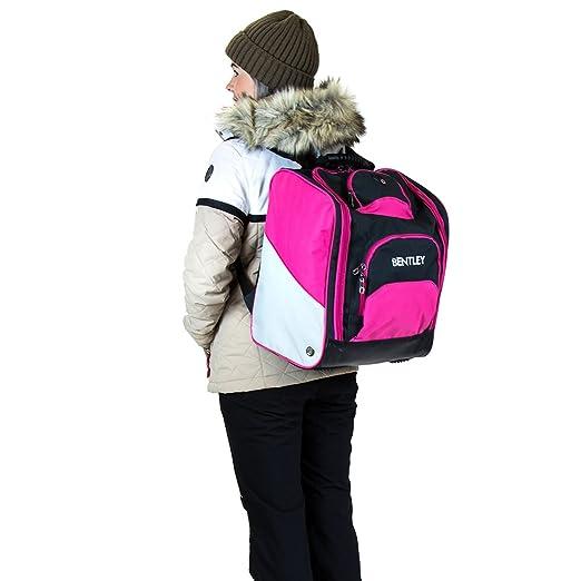 Bentley - Mochila para llevar las botas de esquí - A cuadros - Negro y rosa QdP9FbJOF