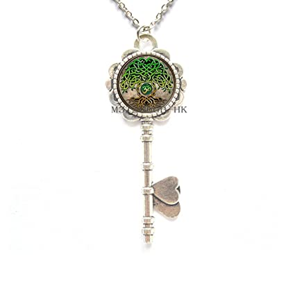 Collar con llave Om, colgante de llave de Ohm, colgante de ...