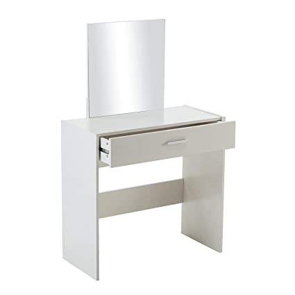 Amazon.com: White Vanity Dressing Table Set Desk Stool with ...