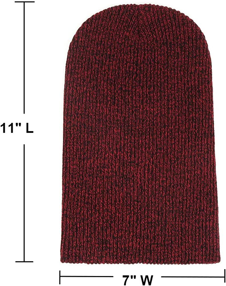 Opromo Slouch /& Comfort Daily Beanie Winter Ski Baggy Hat Unisex Knit Beanie Cap