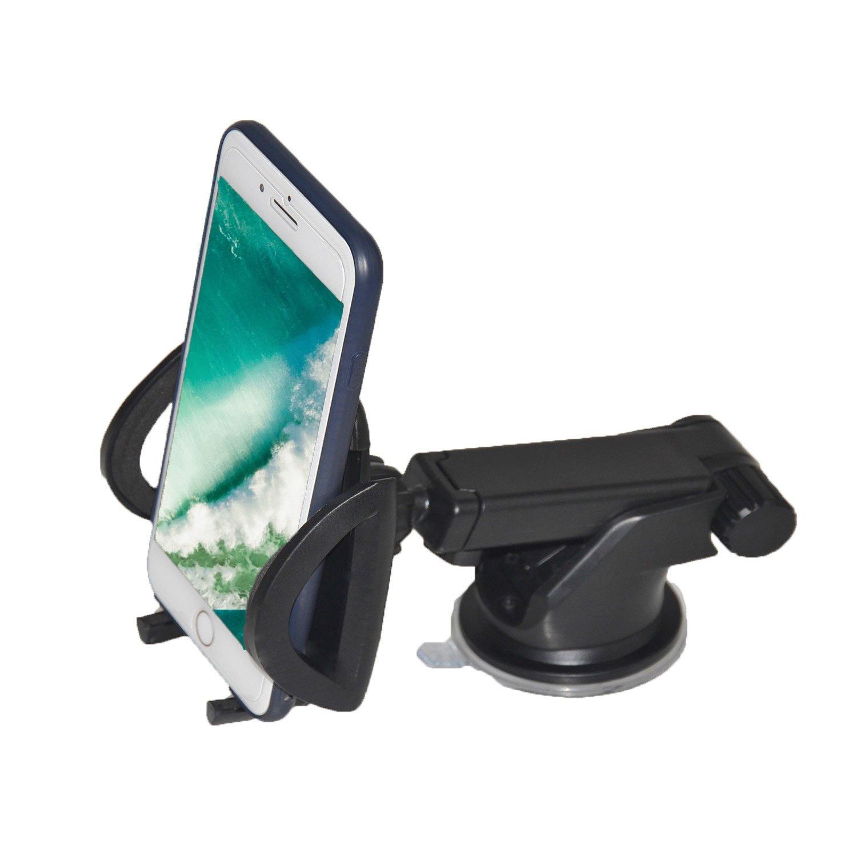 HUALANS Supporto Auto Universale 360 gradi,Porta Cellulare Universale per Iphone 8/8plus/7/7Plus/6/6pluS/5/5pluS/5C, Samsung Galaxy S8 Edge/S7/S6/Note 5, Google Pixel/Pixel XL e Altri Smartphone