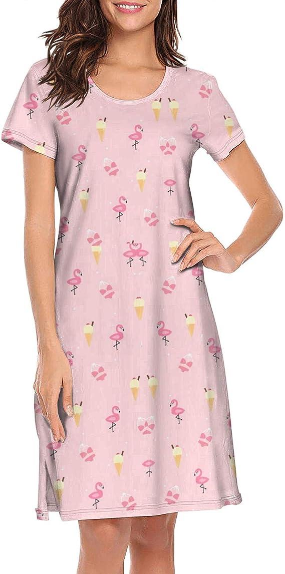 Christmas Flamingo Sleephirt SMALL//MEDIUM Holiday Nightgown Pajamas NWT