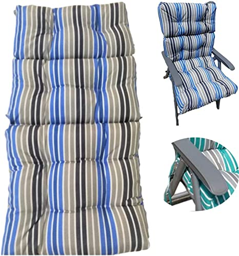 120x50x10cm Replacement Sunbed Cushion Garden Patio Thick Padded Recliner Chair Cushion Relaxer Chair Seat Mattress Sun Lounger Cushion Only Cushions