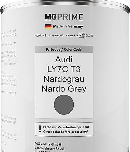 Mg Prime Autolack Dose Set Für Audi Ly7c T3 Nardograu Nardo Grey Basislack 2k Klarlack Härter Spritzfertig 2 5l Auto