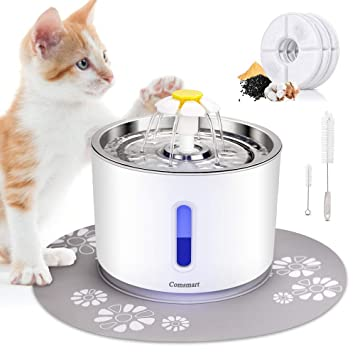 Amazon.com: Comsmart Fuente de agua para gatos, 81oz/2.4L ...