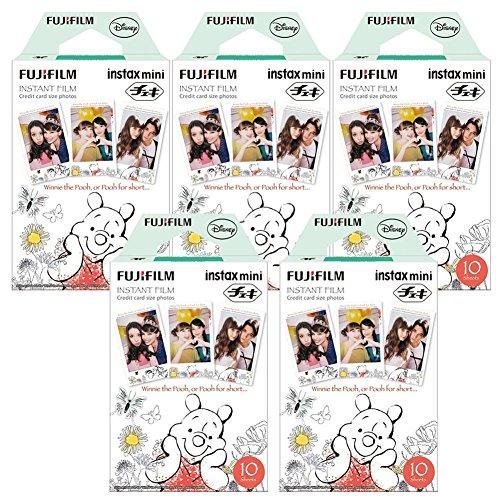 Fujifilm Instax Winnie The Pooh Instant Film 5 Pack for Mini 8 Cameras 50 Sheets (Instax Mini Film Winnie)