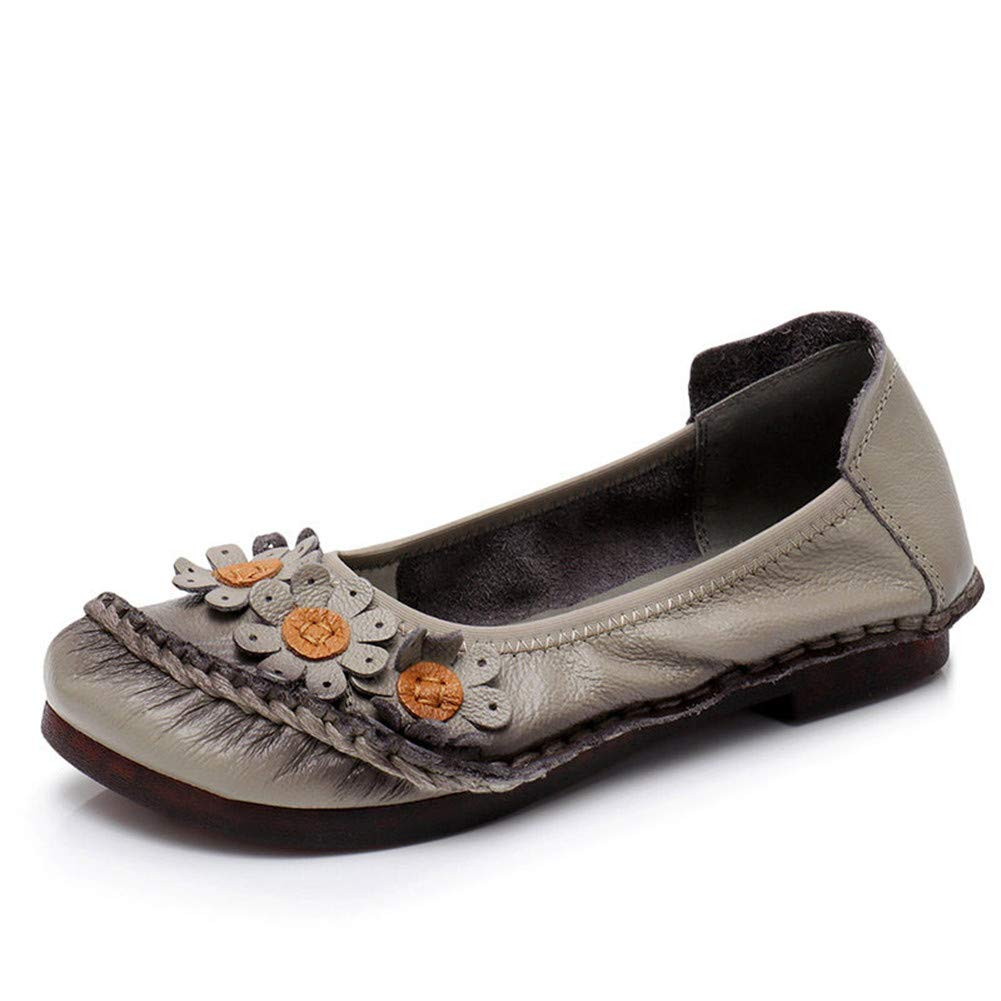 9a77e2b7a0c7 Amazon.com  Dreamstar Women Flats Women Shoes Women Flower Leather Flat  Shoes Ballet Flats  Sports   Outdoors