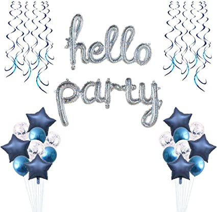 Confetti Fun Foil Swirl Ceiling Birthday Party Celebration Decorations Pack 12