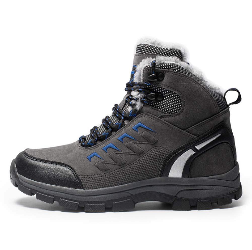 HYLFF Winter Stiefel Männer Frauen Schnee Stiefel WasserDichtes Leder warme Erwachsene Faux KnöchelStiefel Schuhe Rutschfeste tragen Wanderschuhe