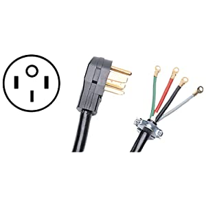 Certified Appliance Accessories 4-Wire Closed-Eyelet 50-Amp Range Cord, 10ft