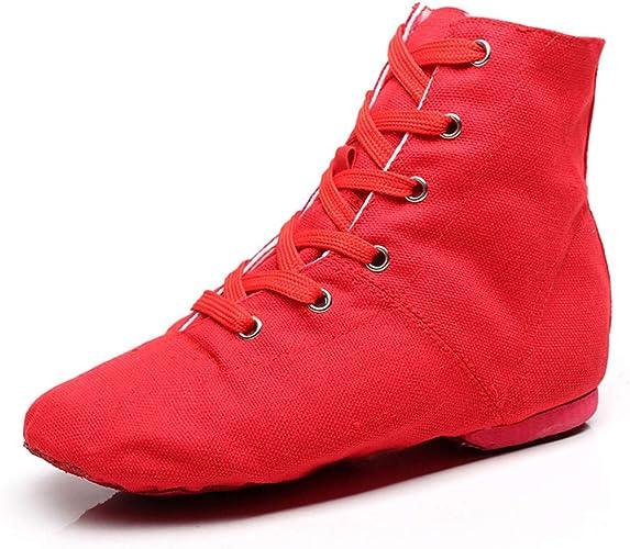 Ltd XC-5141 YOYODANCE Soho Canvas Lace-up Dance Shoes Flat Practice Black Red Jazz Dancing Boots for Men Women Yaoyi Shoes Co