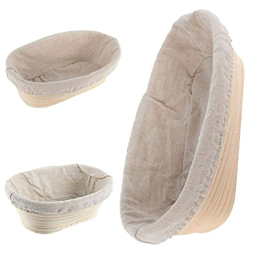 Gamloious Nueva Oval Banneton Brotform Masa de Pan para Pruebas Demostrando Rattan Cesta Liner Mejor 1pc 20 * 15 * 8cm