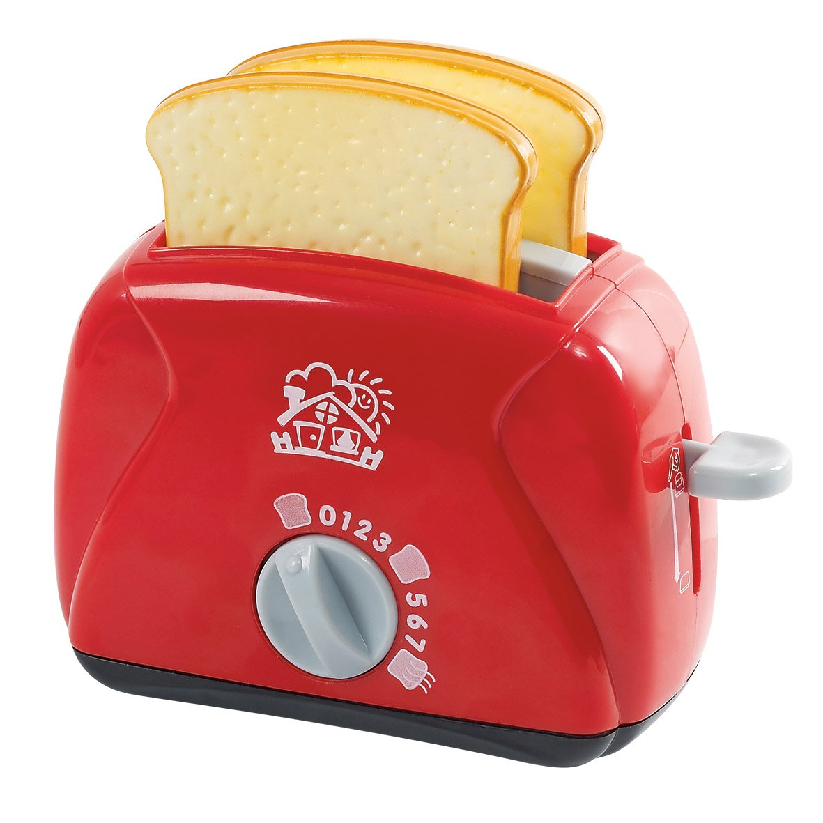 PlayGo Lightweight Play Kitchen Bread Slices Toaster Toy Pretend Play Pop-Up for Kids Age 3 Years & Up by PlayGo