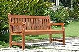 Wooden Garden Bench Vifah Baltic Eco-friendly 5-foot Outdoor Wood Garden Bench
