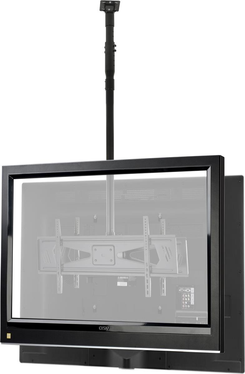 plasma fixing in unicol double mount tv twin bracket to lcd monitor back display column led brackets with metre universal ceiling drop
