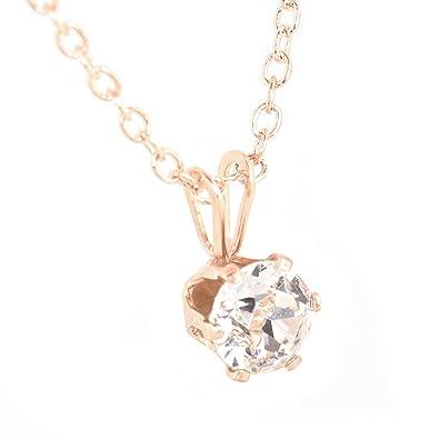 b9cbe1c16c8d Collar con colgante hecho con un cristal blanco de Swarovski