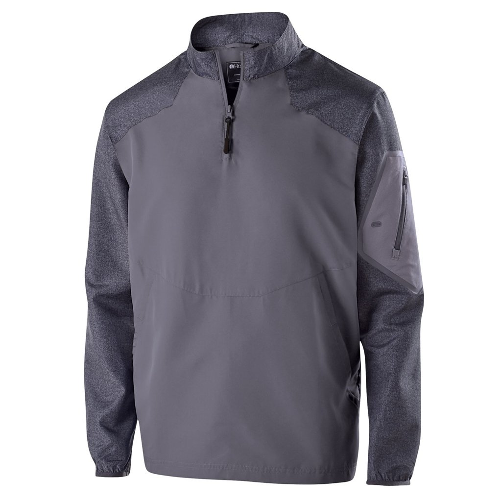 Holloway Youth Raider Pullover (Large, Carbon Print/Graphite) by Holloway