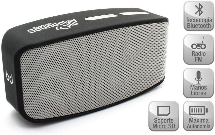 Biwond 91954 - Altavoz Bluetooth, Color Plata