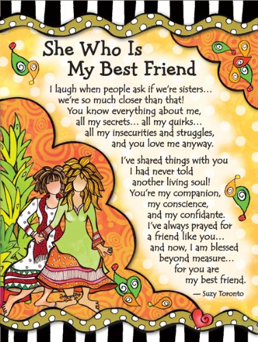 Miniature Easel Print with Magnet: She Who is My Best Friend, 3.6