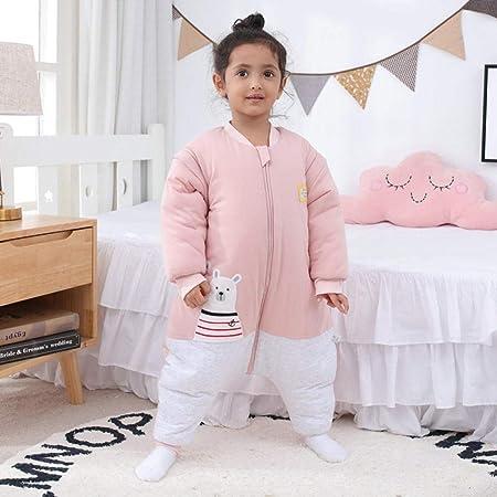 nohbi 100% Algodón Saco de Dormir para bebé,Saco de Dormir de algodón Puro para bebés con Cremallera,edredón Antideslizante cálido y Grueso-Rosa_100, Saco de Dormir Manta Caliente: Amazon.es: Hogar