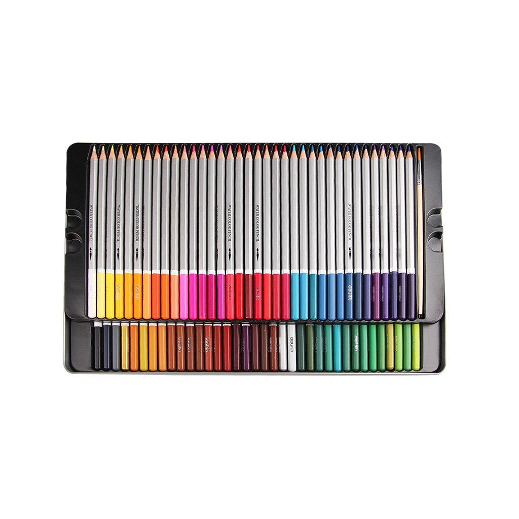 YONGJUN Color Pencils 24/36/48/72 Color Lápices De Colores Solubles En Los Agua Los En Estudiantes Usan Materiales De Arte Tin Boxed ( UnitCount : 72 ) df4138