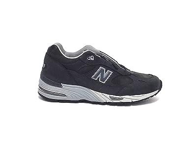 Sneaker New Balance 991 in pelle e suede grigio