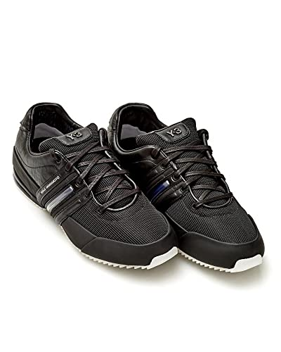 8b7b1b1c67a4ed adidas Y-3 Sprint Trainers Mens Black Leather Trainer  Amazon.co.uk  Shoes    Bags