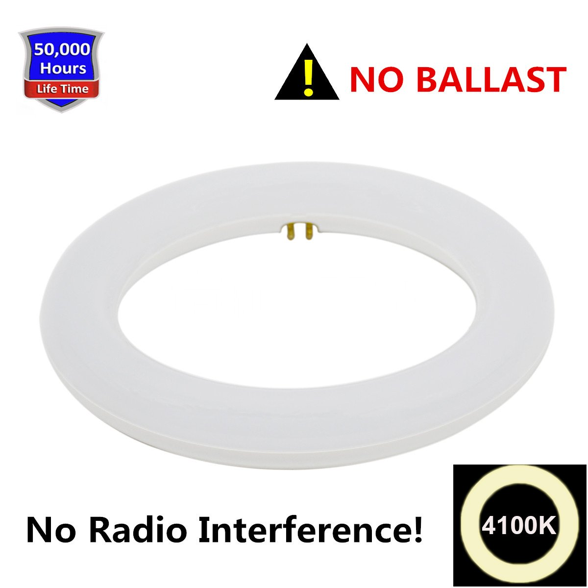8 Inch Circline 10W T9 LED Light Bulb Cool White 4100K, Replacement for  Fluorescent FC8T9 Bulbs without Ballast - - Amazon.com
