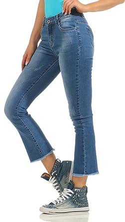 11076 Fashion4Young Damen Jeans Hose Regular Fit Damenjeans