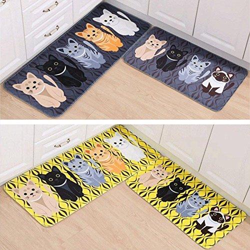 Smartchef New Doormats Bedroom Kitchen Door Mats Anti-Slip Bath Mats Cute Cat Rug - And Spencer Marks Womens Pyjamas