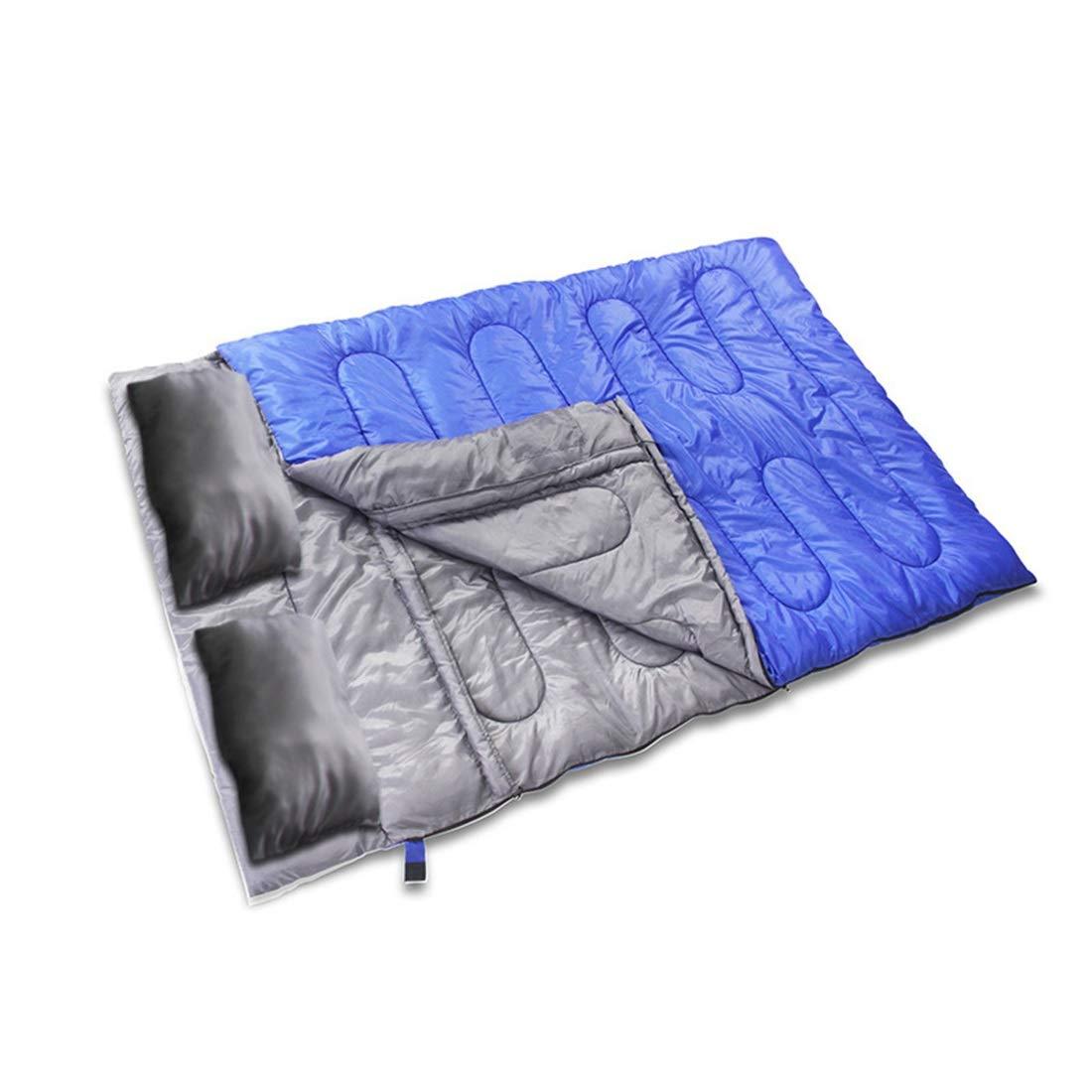 CUBCBIIS 薄い封筒の寝袋屋外旅行4シーズンライナーキャンプコットン拡大と厚く寝袋/黒 (Color : ブルー) B07N5DQMMN ブルー