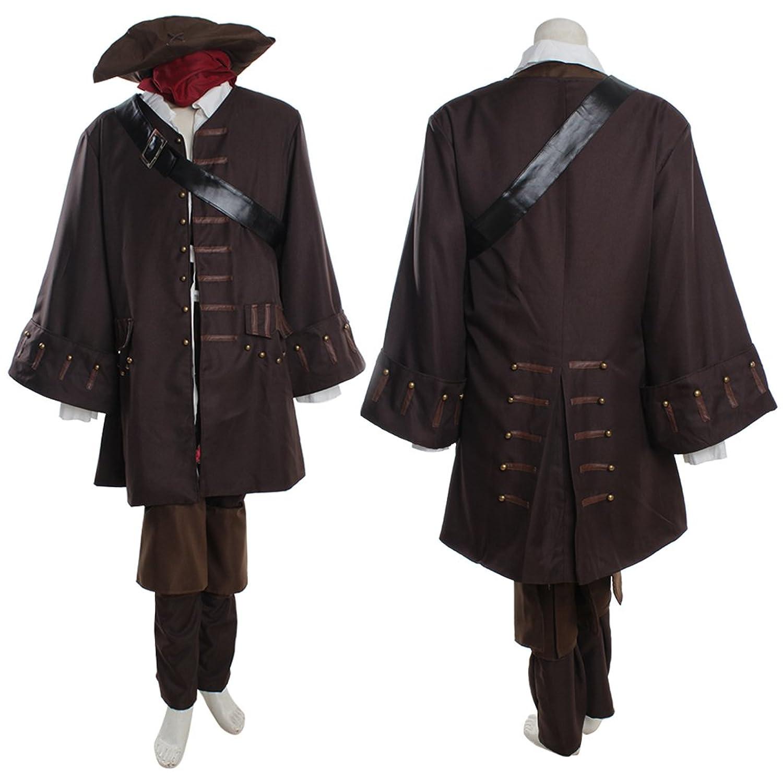 Men's Captain Jack Sparrow Custom Cosplay Costume by CosplayDiy - DeluxeAdultCostumes.com
