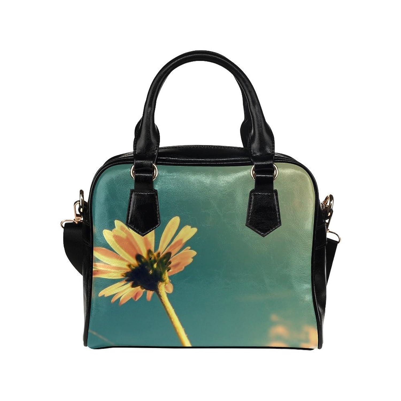 meincare Women's Summer Flower Retro Sunshine PU leather Aslant Shoulder Tote Handbags