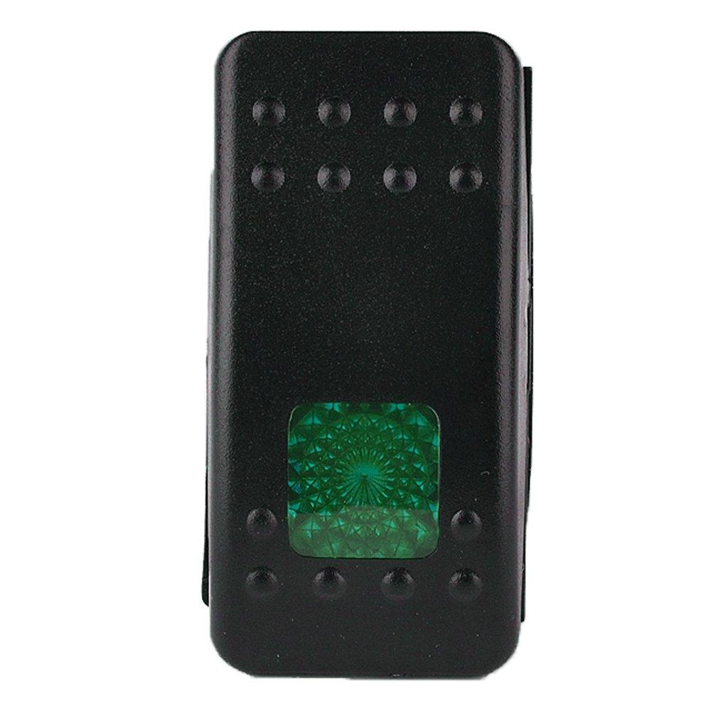 HOUTBY/™ KFZ Kippschalter Druckschalter Schalter Wippschalter Wasserdicht 12V 20A Gr/ün LED Licht 3Pin
