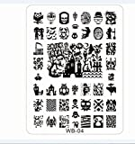 Shari Halloween Nail art Tips Image Stamp Plates Polish Stamping Manicure Image DIY WB04