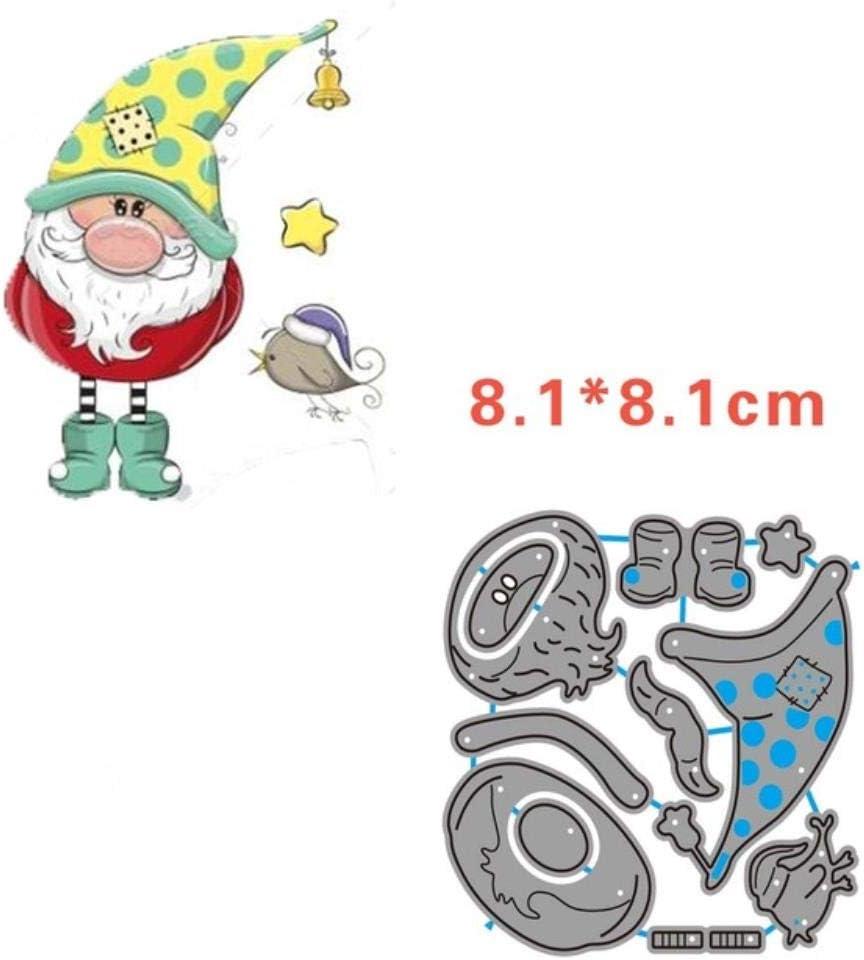 P/ère No/ël no/ël meurt cutle m/étal coupe meurt nains de bonhomme de neige renne pingouin nouvelle coupe meurt pour scrapbooking 2019,421