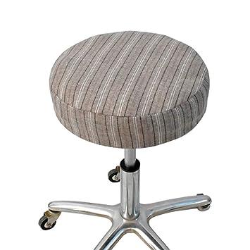 Linge De Coussin Rond Lin Elastique Couverture Bar Chaise Machine Lavable