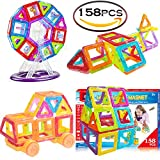 #7: SASRL Magnetic Toys Building Tiles Blocks Stack Set - 158 pcs