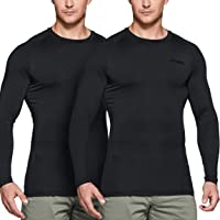CQR Men's (Pack of 2) Cool Dry Fit Long/Short/Sleeveless Tactical Compression Shirts, Athletic Workout T-Shirt, Active…