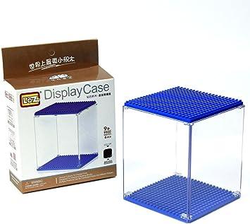 Caja de metacrilato para figuras de minibloques - Display box. 10 cm de altura. Negro: Amazon.es: Juguetes y juegos