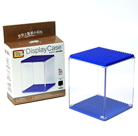 Caja de metacrilato para figuras de minibloques - Display box. 10 cm de altura.